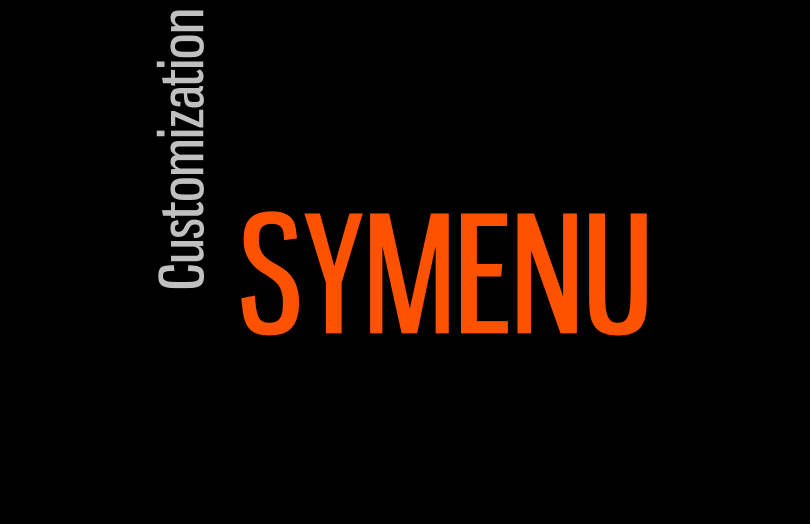 SyMenu customization